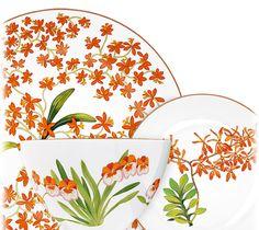 Hermes Jardin des Orchidees Porcelain