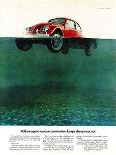Helmut Krone, VW beetle campaign, 1960s. DDB NY