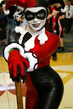 """Mr. J… Wanna try some of my pie?"" Harley Quinn: 1998. MegaCon. Orlando. 2011 #lipstick"