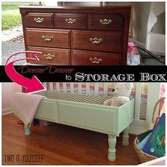 old dresser drawer to raised storage box super easy diy, bedroom ideas, chalk paint, diy, home decor, how to, painted furniture, repurposing upcycling, storage ideas, woodworking projects, Dresser Drawer to Storage Box
