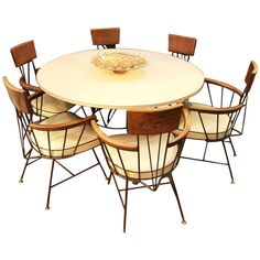 Mid-Century Modern Dining Set with Table and Six Chairs by Paul McCobb | 1stdibs.com