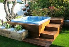 40 Lovely Jaccuzzis Ideas - When people refer to a hot tub or a spa, they often think of the word Jacuzzi. The terms are often used interchangeably but Jacuzzi is actually a bran. Hot Tub Gazebo, Hot Tub Backyard, Hot Tub Garden, Backyard Patio, Backyard Landscaping, Garden Gazebo, Backyard Ideas, Garden Ideas, Gazebo Ideas