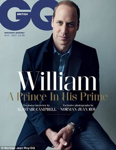 Prince William is the star of GQ's latest magazine issue and opens up about family life, how he wished his late mother could have met Kate and how it's taken him 20 years to come to terms with her death