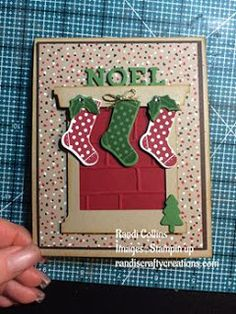 Randi's Crafty Creations, stampin up hang your stocking, pop up panel card