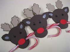 Reindeer Candy Cane holders by Englishrose - Cards and Paper Crafts at Splitcoaststampers