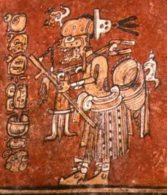 Maya death god A way as a hunter, Classic period God Of Lightning, Death God, Maya Civilization, Mesoamerican, World Religions, Inca, Museum Of Fine Arts, Gods And Goddesses, Satan