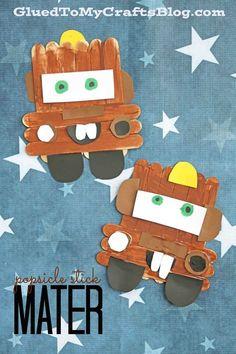 Popsicle Stick Mater - Disney's Cars 3 Kid Craft Idea