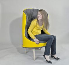 Wingback Chair Made from Recycled Playground Slide ReadyMade