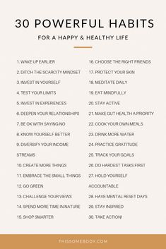 30 powerful habits for a happy, healthy life - Alles über Mundpflege 2020 Good Habits, Healthy Habits, Vie Motivation, Tuesday Motivation, Morning Motivation, Fitness Motivation, Motivational Quotes, Inspirational Quotes, Self Care Activities