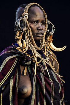 Tribus Karo, región de Murle, Etiopía