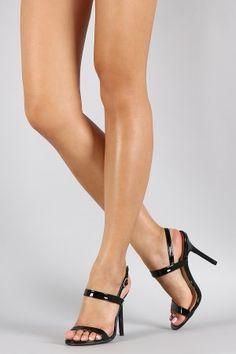 Wild Diva Lounge Patent Two Strap Heel
