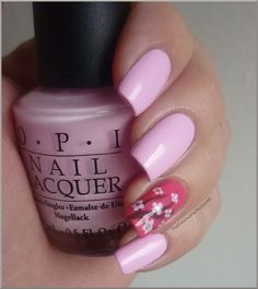Mod about you, Flower to flower, You don't know Jaques China Glaze OPI Millennium cherry blosson nail art
