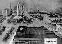 Logan Square, Chicago, 1927