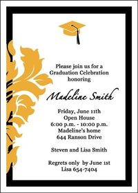 Graduation Open House Invitations for Your School Grads only at www.graduationcardsshop.com