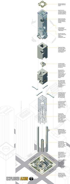 Exploded Axonometric_BOOK_FRONT_BACK_FINALLL | Drawings that show imagination | Pinterest