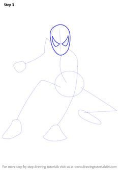 24 ideas how to draw spiderman step by step marvel comics Spiderman Sketches, Spiderman Drawing, How To Draw Spiderman, Drawing Sites, Drawing Tutorials, Spiderman Home, Drawing For Kids, Learn Drawing, Spiderman Pictures