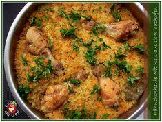 Lecker mit Geri: Hähnchenkeulen mit Reis aus dem Ofen auf bulgarische Art - Пиле с ориз на фурна