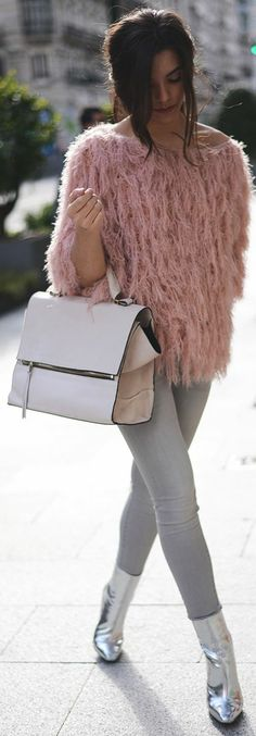 Chic In The City♔Coosy Pink Fluffy Jumper by The Fashion Through My Eyes- ♔LadyLuxury♔