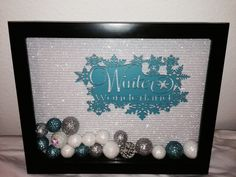 Winter Shadow Box Christmas Shadow Box by KatiesVinylKreations, $20.00