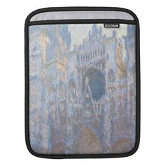Rouen Cathedral West Facade by Claude Monet Sleeves For iPads