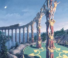 Amazing Optical Illusion Paintings That Make Your Imagination Go Wild Canadian artist Robert Gonsalves has created a series of incredible paintings that play with optical illusions. Optical Illusion Paintings, Amazing Optical Illusions, Art Optical, Rene Magritte, Canadian Painters, Canadian Artists, Amazing Paintings, Amazing Art, Amazing Things