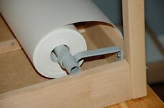 IKEA LATT hack - adding a paper roll to the underside. IKEA LATT hack - adding a paper roll to the underside.