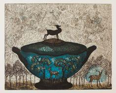 Kirsi Neuvonen - Bambi Etching on Paper, Prints Art And Illustration, Intaglio Printmaking, Kahlo Paintings, Artist Portfolio, Detail Art, Miniture Things, Love Art, Contemporary Artists, Illustrators