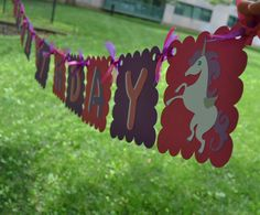 Princess Unicorn Magical Happy Birthday Banner