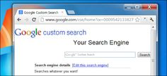 How To Create Your Own Google Custom Search Engine ~ ALL YOU NEED