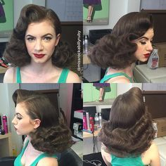 Hair by me #missrockabillyruby and makeup by @erikareno_artistry #erikarenoartistry #hairbymissruby #missruby #pinup #pinuphair #retro #retrohair #Vintage #vintagehair