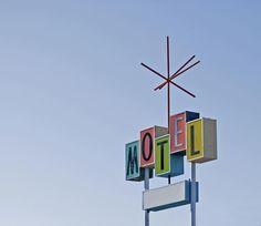 Vintage Motel Sign Photograph - Vintage Motel Sign Fine Art Print