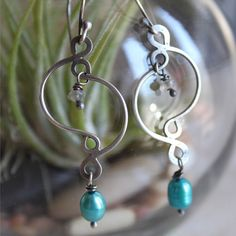 Wire jewelry | beads and wire | wire earrings