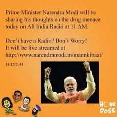 Listen to our prime minister at 11 am on AIR! #narendramodi