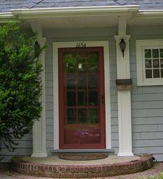 Front door with coordinated storm door traditional for Front door and storm door