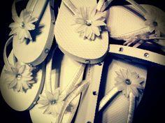 Wedding Flip Flops.  Like the bling on the sides