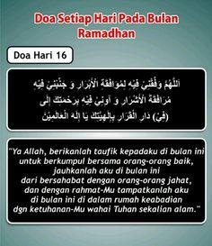 Doa hari 16 Ramadhan