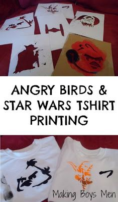 Angry birds star wars T-shirt printing for kids