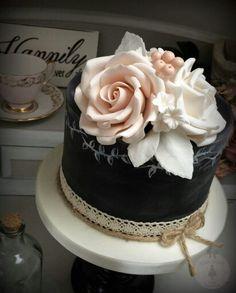 . Flower Cakes, Elegant Cakes, Cake Art, Birthday Cakes, Cake Ideas, Cake Decorating, Wedding Cakes, Baking, Pretty