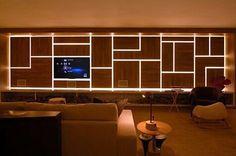 Inspiração ♡ #interiores #design #interiordesign #decor #decoração #decorlovers #archilovers #inspiration #ideias #sala #saladetv #hometheater #camilaklein