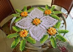 Revenue Centerpiece Nautique Flower Crochet ~ Crochet Free Patterns