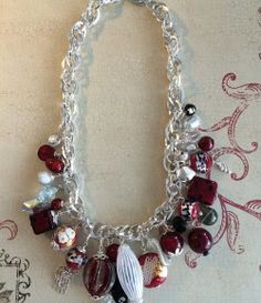 This design features silver large square wire rope chain, dripping with Murano glass beads. Metal Jewelry, Beaded Jewelry, Beaded Necklace, Murano Glass Beads, Rope Chain, Sterling Silver Chains, Wire, Bracelets, Design