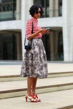 Chain Print, NYC | Street Fashion | Street Peeper | Global Street Fashion and Street Style