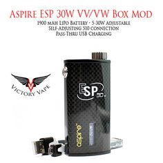 Aspire ESP 1900 mah 30W VV/VW Box Mod – Victory Vape