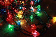 Retro Christmas Lights | ... vintage christmas lights 5 set of 35 light strand reflector lights and