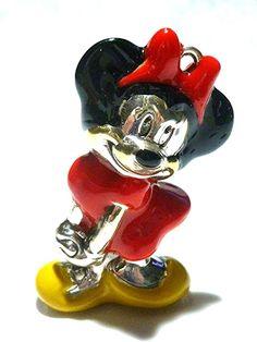 RARE Minnie Mouse Enamel Paint Walt Disney Sterling Silver Vintage Charm Pendant | eBay