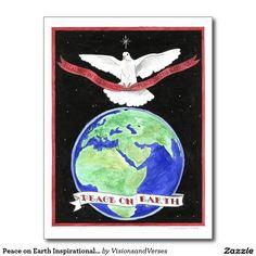 Peace on Earth Inspirational Postcard