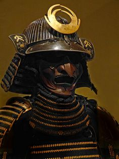 Closeup of Helmet and mask of Dangaedō Tōsei Gusoku Armor with mask attributed to Noguchi Zesai 17th century CE Japan | Flickr - Photo Sharing!