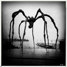 """A little annoyed this pin just said """"spooky spider"""".  Sculptor, LOUISE BOURGEOIS- MAMAN, she's amazing."""