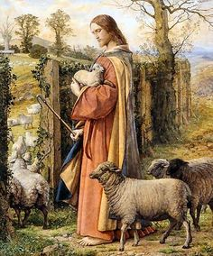 """I am the Good Shepherd; I know My sheep and My sheep know Me, just as the Father knows Me and I know the Father, and I lay down My life for the sheep."" — John 10:14-15 #repin"