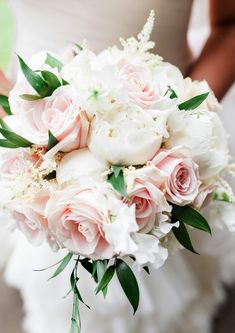 Brides LOVE roses and peonies - and when they look this good we're not